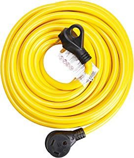 30ft 30Amp RV Extension Cord, Easy Unplug Design with Cord Organizer, 10 Gauge 30A,3 Wire)