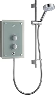 Mira Showers 1.1634.011 Azora 9.8 kW Thermostatic Electric Shower - Frosted Glass/Chrome