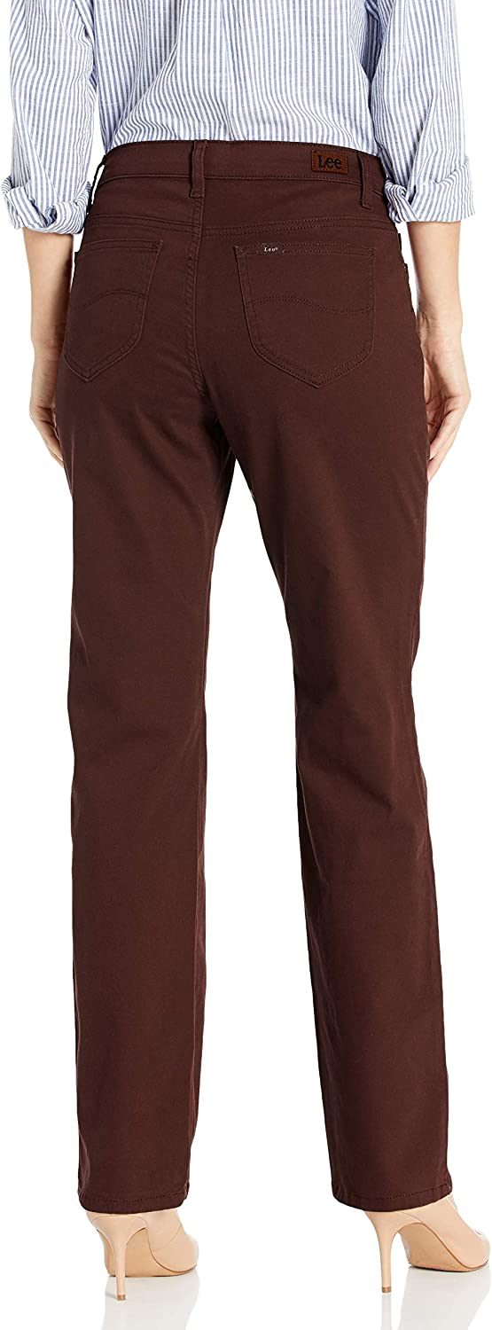 Lee Uniforms Relaxed Fit Straight Leg Jean Femme Marron