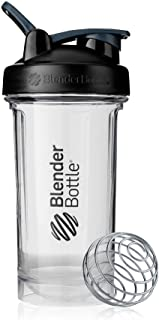 BlenderBottle C03628 Shaker Bottle Pro Series Perfect for Protein Shakes and Pre Workout, 24-Ounce, Black/Clear