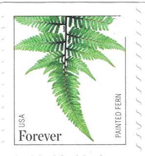 USPS Forever Stamps Ferns - 100 Stamps (10 strips of 10 postage stamps)