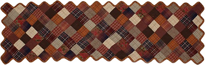 "HOME HEART Brands Country Fashion Quilted Coffee Table Runner & Toppers 14""X24""(3735MRS)"