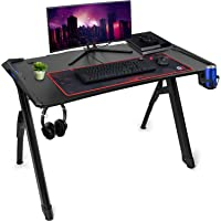 Deco Gear 47-inch LED Gaming Desk Carbon Fiber Surface