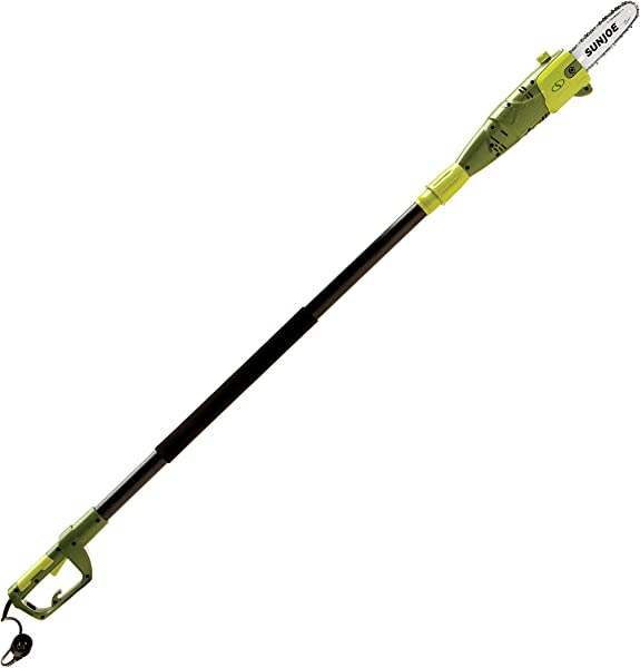 Sun Joe SWJ800E 8 Inch 6 5 Amp Telescoping Electric Pole Chain Saw With Automatic Chain Lubrication System