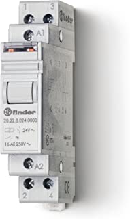 Finder 20.22.9.012.0000 DPST-NO 16A, 12V DC Coil, AgNi Contact, 2 Step Impulse/Latching Relay