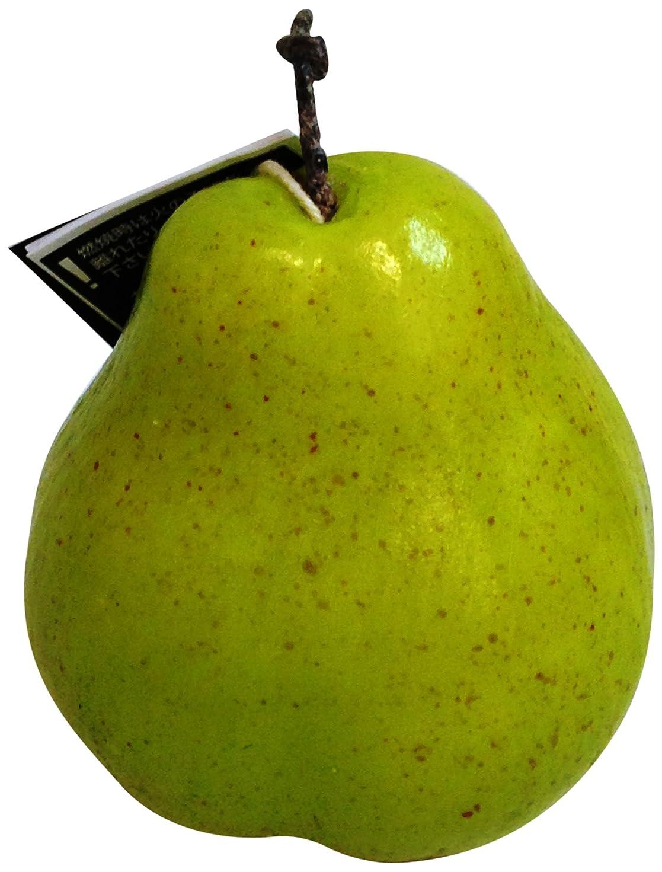 使い込むパースブラックボロウから聞くニミティッドフルーツキャンドル グリーンペアー ラージ