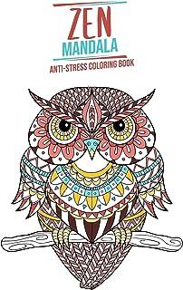 Zen Mandala: Anti-stress coloring book Animal theme 3 levels of difficulty 34 Coloring Animal Mandalas 8.5 x 11