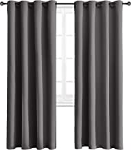 WONTEX Blackout Curtains Room Darkening Thermal Insulated with Grommet Window Curtain for Living Room, 52 x 72 inch, Grey, 2 Panels