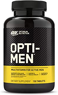 Optimum Nutrition Opti-Men, Vitamin C, Zinc and Vitamin D, E, B12 for Immune Support Mens Daily Multivitamin Supplement, 150 Count (Packaging May Vary)