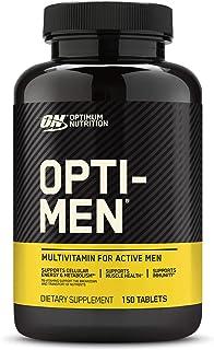 Optimum Nutrition Opti-Men, Vitamin C, Zinc and Vitamin D, E, B12 for Immune Support Mens Daily Multivitamin Supplement, 1...