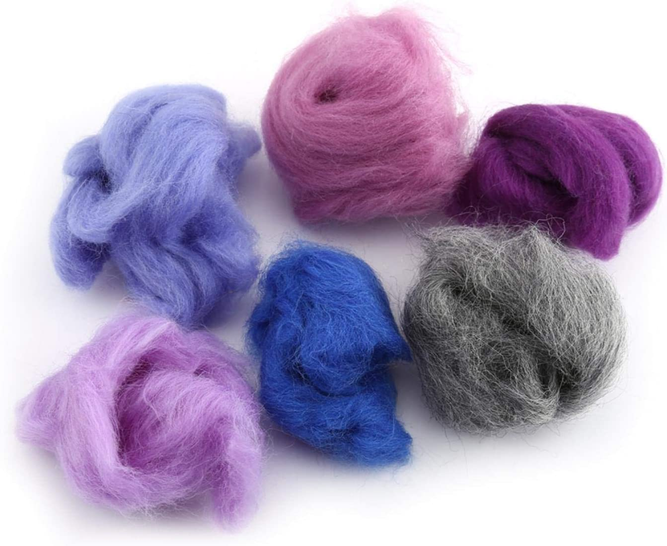 Vbestlife 36 Colors Wool Fiber Fe Challenge Credence the lowest price of Japan ☆ Roving Needle roving Dyed
