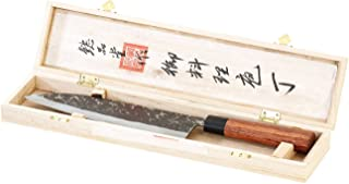 Couteau artisanal TokioKitchenWare -Couteau de chef avec manche en bois véritable, fabriqué à la main (couteau de chef pro...