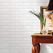 Wallpaper Mart – 3D Embossed Washable PE Foam DIY Self Adhesive Brick Wall Sticker for Bedrooms, Living Room, Kids Room, O...