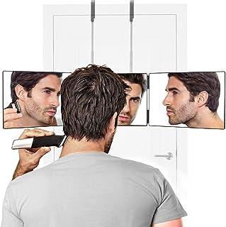 Herbst Zelf Gesneden Spiegel Drie Weg Spiegel 360 graden Instelbare Scheerspiegel voor Zelfhaar Knippen en Stylen en Kleur...