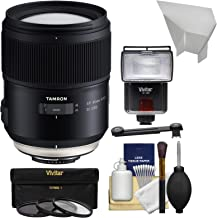 Tamron SP 35mm f/1.4 Di USD Lens with UV/CPL/ND8 Filters + Flash Kit for Nikon DSLR Cameras