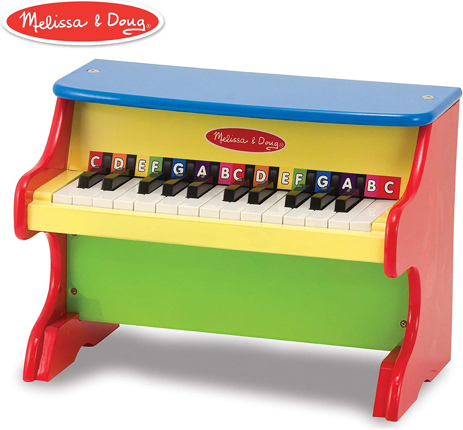 Melissa & Doug LearntoPlay Piano With 25 Keys and colorCoded Songbook of 9 Songs