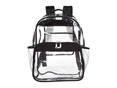 Baggallini Clear Event Compliant Large Backpack (Black/Sand Lining) Backpack Bags