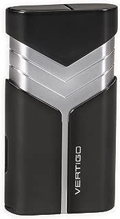 Vertigo Vertigo Tron Double Torch Lighter w/Cigar Punch (Black)