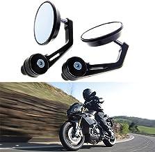 Nero Goldoars Universale 7//8 22mm Specchio Moto Retrovisore CNC Alluminio Rotazione di 360 /° Staffa Vista Laterale Specchietti per Manubrio Moto 1 paio,Nero