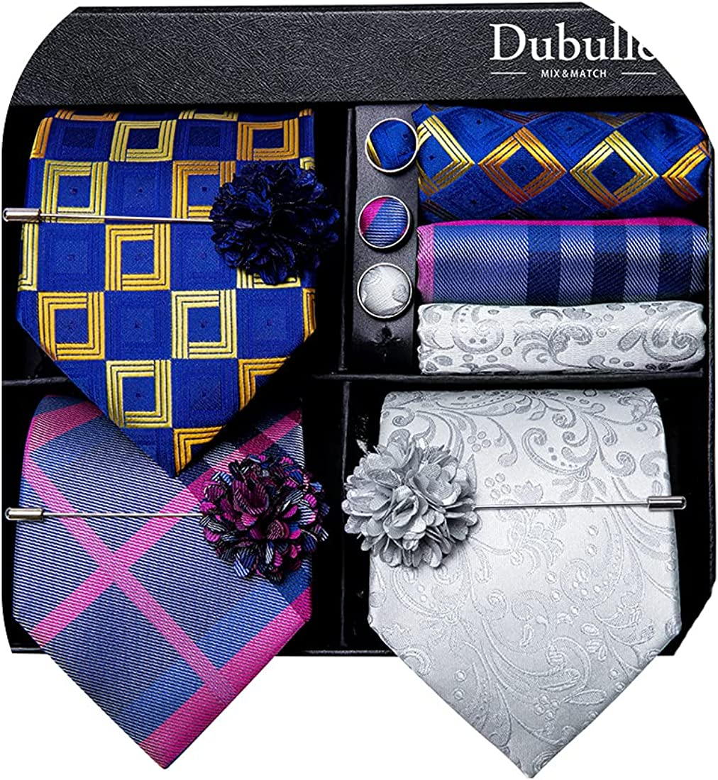 Dubulle Lot 3 PCS Classic Men's Set Tie Max Complete Free Shipping 51% OFF Neck Stripe Silk Paisley