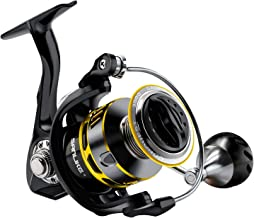 SAN LIKE Spinning Fishing Reels,Saltwater/Freshwater Fishing Reel,5.2:1 Gear Ratio,7+1 BB Light Weight,33 Lbs Max Drag,Aluminum Handle