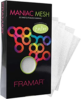 Framar Maniac Mesh Sheets - Mesh Strips for Hair Dye, Hair Color, Hair Bleach - 50 Pack (Reusable)