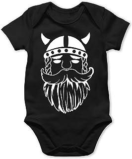 Shirtracer Bunt gemischt Baby - Wikinger - Baby Body Kurzarm für Jungen und Mädchen