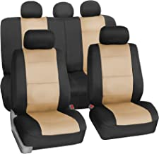 FH Group FB083115 Neoprene Waterproof Car Seat Covers, Pair Set Buckets Airbag Ready (Gold-fullset)