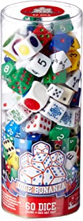 GAME Mixed Dice in a Clear Tube 60Pcs Accessory