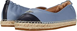 COACH Camryn Espadrille,Navy/Bluebell Smooth Leather