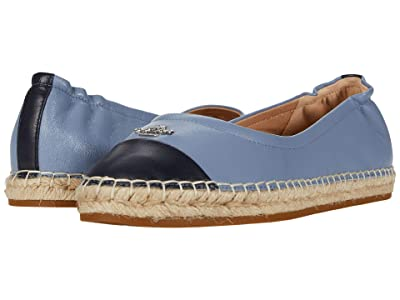 COACH Camryn Espadrille (Navy/Bluebell Smooth Leather) Women