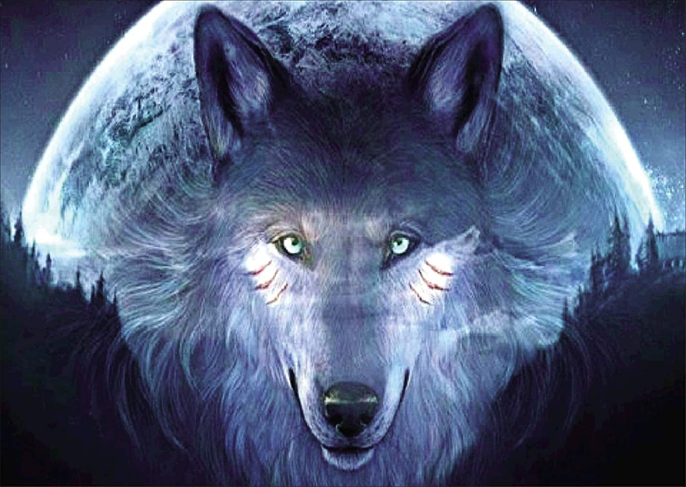 Dylan's cabin DIY 5D Diamond Painting Kits for Adults,Full Drill Embroidery Paint with Diamond for Home Wall Decor(Wolf /16x12inch)