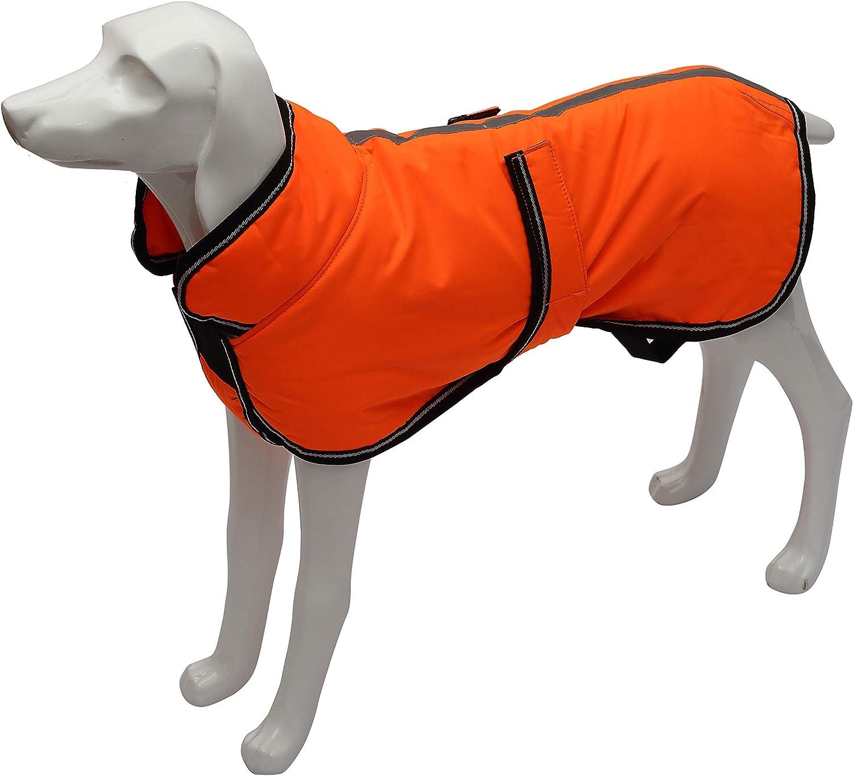 Parka riflettente 300D cappotto per cani impermeabile per cani di taglia piccola media e grande con foro per imbracatura rosso-XS