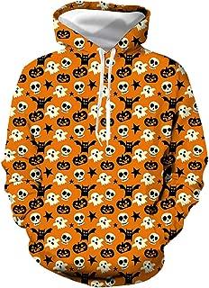 Women Men Halloween 3D Digital Print Pullover Hoodies Couples Holiday Party Costume Casual Sweatshirt