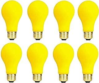 Pack of 8 60-Watt A19 Yellow Bug Incandescent Medium Base Light Bulb