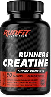 Runner's Creatine Pills for Peak Performance - Special 3-Type Creatine Blend Creatine Monohydrate, Pyruvate & AKG - Build ...