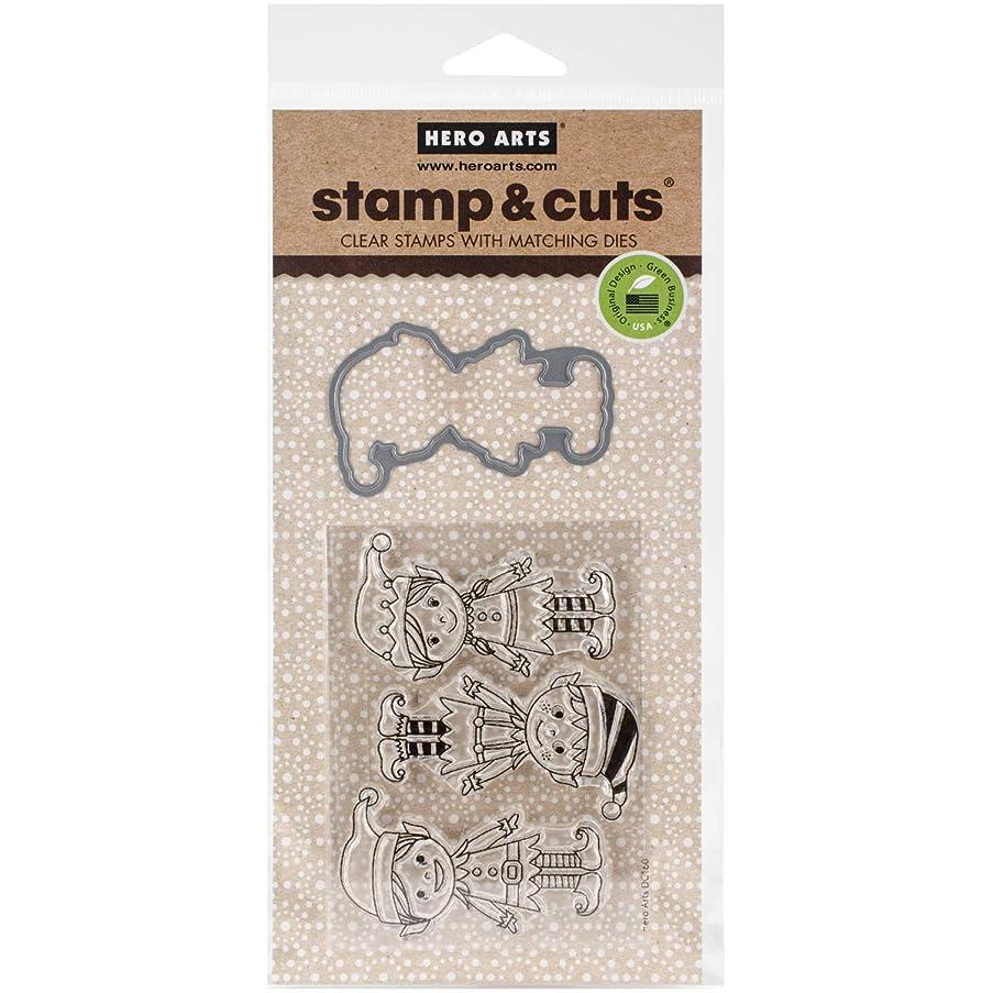 Hero Arts DC160 Stamp & Cut, Santa's Elves