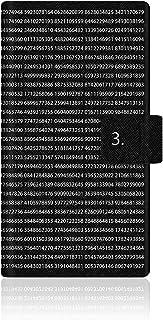 CaseMarket 【手帳式】 AQUOS ZETA (SH-01G) スリム ケース [ 円周率 グラフィックス ダイアリー ] SH-01G-VCM2D2043
