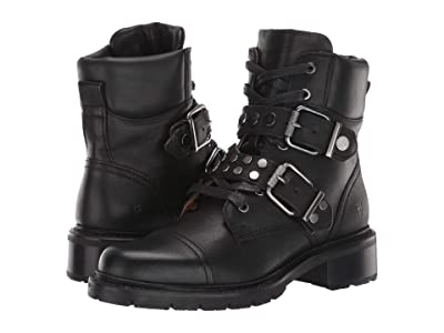 Frye Samantha Stud Hiker (Black) Women