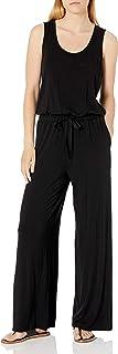 Women's Sleeveless Scoop-Neck Wide-Leg Jumpsuit