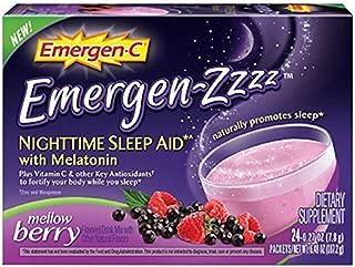 Emergen-C Emergen-zzzz Nighttime Sleep Aid with Melatonin, Mellow Berry 24 ea (Pack of 3)