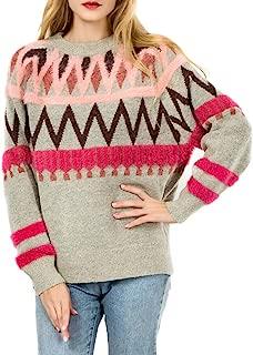 geometric pattern loose sweater