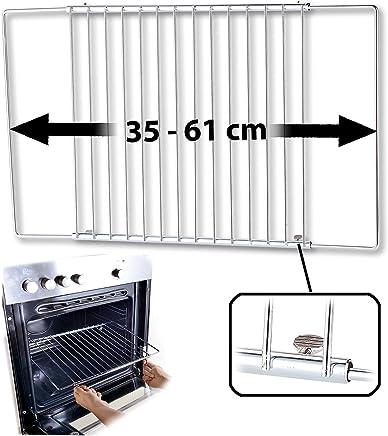 Rosenstein & Söhne Backofenrost verstellbar: Universal-Backofenrost, ausziehbar von 35-61 cm, 32 cm tief (Backblech)