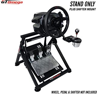 GT Omega APEX Racing Wheel Stand for Thrustmaster T500/T300 Gaming Steering Wheel - Pedals & TH8A Shifter Mount - Supporting Fanatec PS4 Xbox PC - Tilt-Adjustable to Ultimate Sim Racing Experience