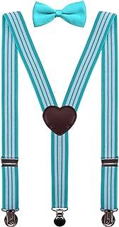 Mens Boys Suspenders and Bow Tie Set Adjustable