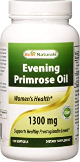 Sponsored Ad - Best Naturals Evening Primrose Oil 1300 mg 120 Softgels - Made from Non-GMO Hexane Free Cold Pressed Oil