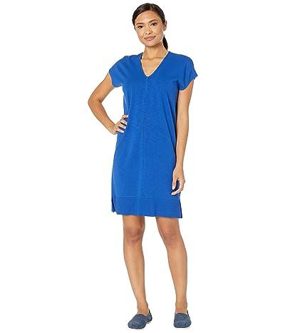 Lilla P Rib Trim Flame Modal Dress (Cobalt) Women