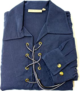 Kilts Wi Hae Deluxe Jacobite Culloden Jacobean Ghillie Shirt - Navy Blue. Own Brand. Sizes Extra Small to 4XL