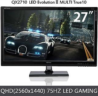 QNIX 27型ワイド LED液晶ディスプレイ ゲーミングモニター/QHD(2560x1440)4K/HDMI/75Hz(QX2710 MULTI TRUE10/QXMO2710)