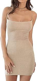 Backless Dress Women's Spaghetti Strap Sexy Clubwear Bodycon Mini Dress